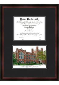 Oklahoma Sooners Diplomate and Campus Lithograph Picture Frame