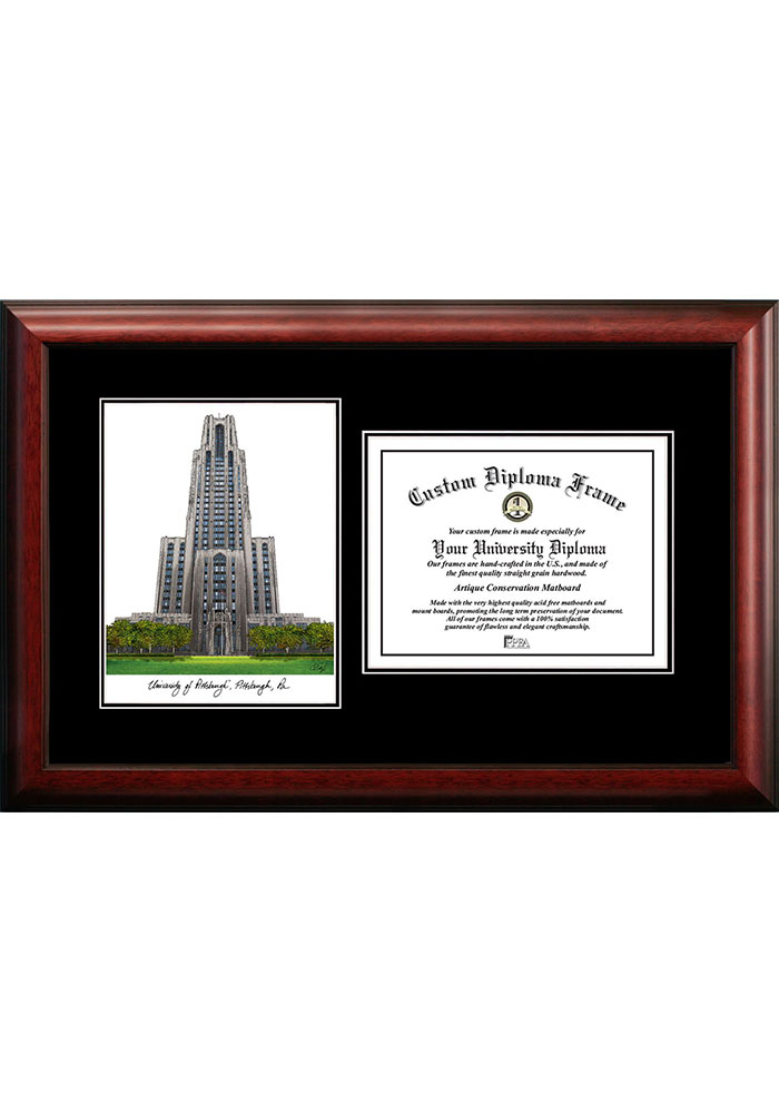 Pitt Panthers Diplomate and Campus Lithograph Picture Frame - Image 1