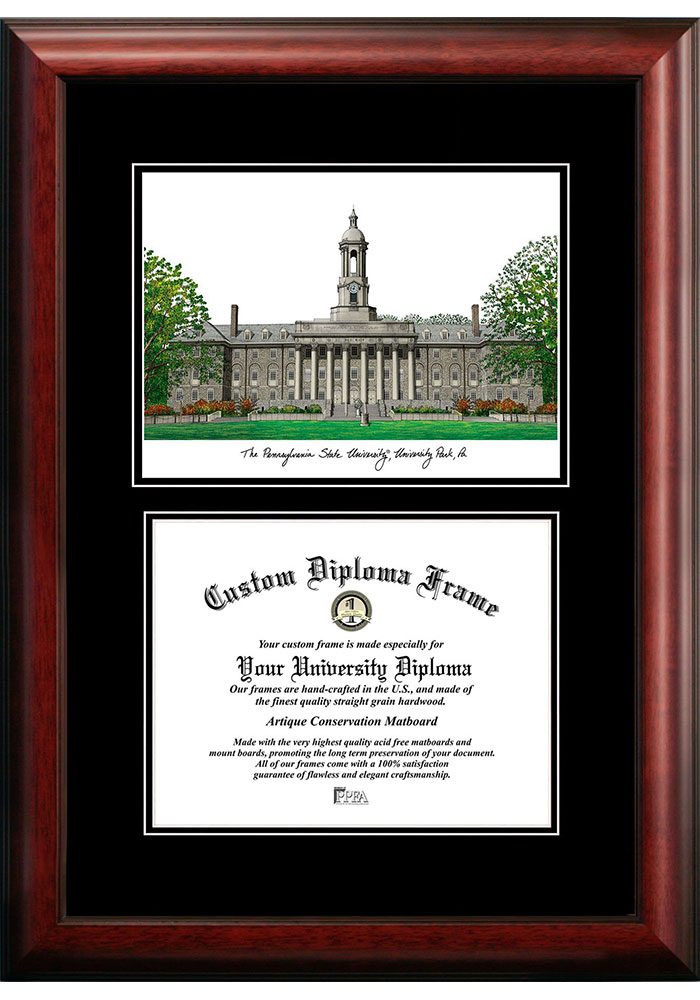 Penn State Nittany Lions Diplomate and Campus Lithograph Picture Frame - Image 1