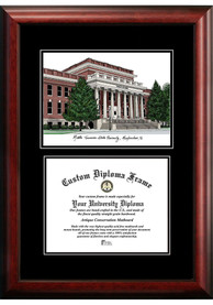 Middle Tennessee Blue Raiders Diplomate and Campus Lithograph Picture Frame