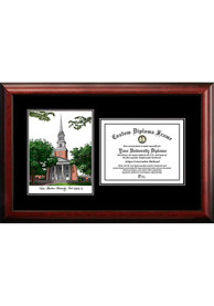 TCU Horned Frogs Diplomate and Campus Lithograph Picture Frame