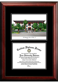 UTEP Miners Diplomate and Campus Lithograph Picture Frame