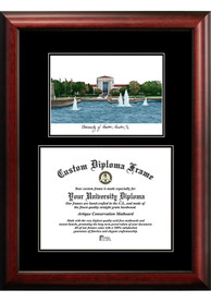 Houston Cougars Diplomate and Campus Lithograph Picture Frame