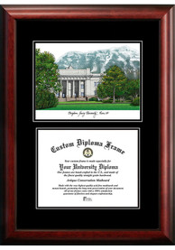 BYU Cougars Diplomate and Campus Lithograph Picture Frame