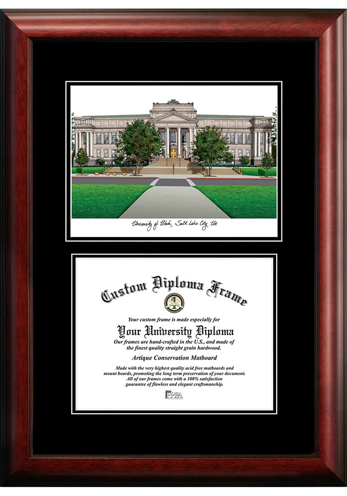 Utah Utes Diplomate and Campus Lithograph Picture Frame - Image 1