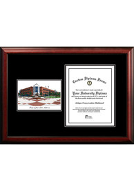 George Mason University Diplomate and Campus Lithograph Picture Frame