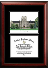 Virginia Tech Hokies Diplomate and Campus Lithograph Picture Frame