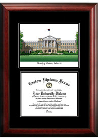 Wisconsin Badgers Diplomate and Campus Lithograph Picture Frame