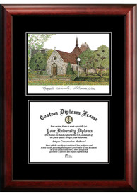 Marquette Golden Eagles Diplomate and Campus Lithograph Picture Frame