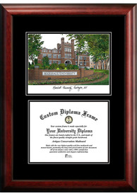 Marshall Thundering Herd Diplomate and Campus Lithograph Picture Frame