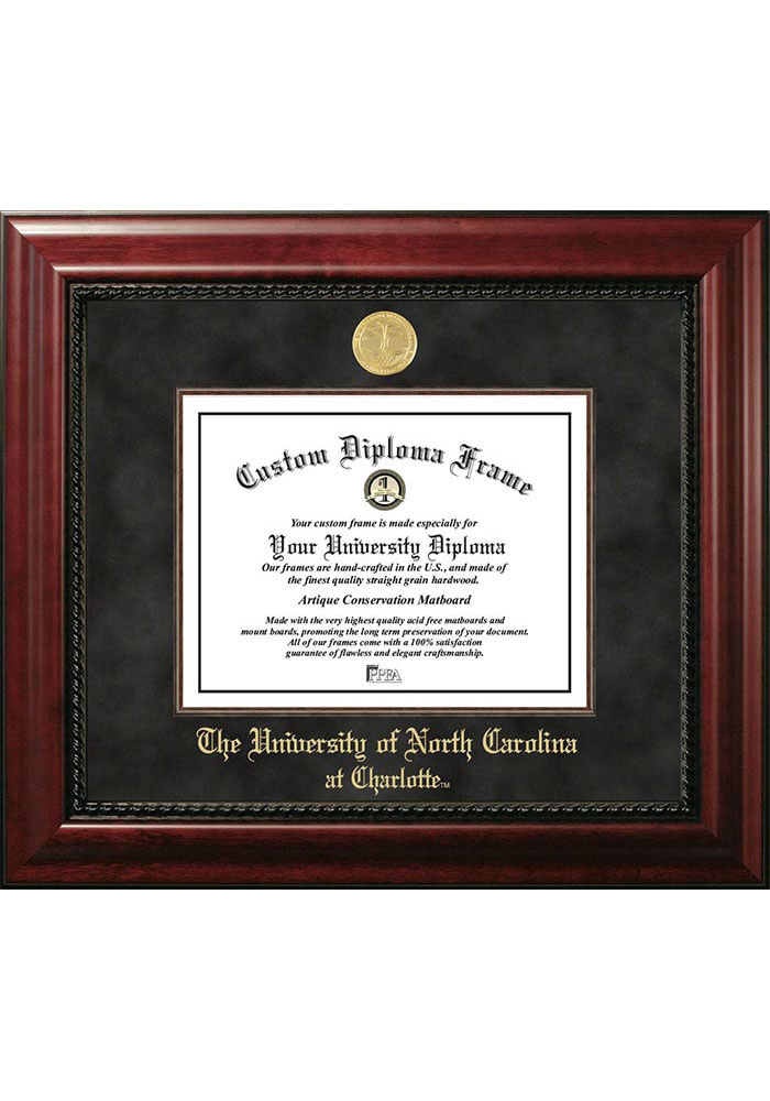 UNCC 49ers Executive Diploma Picture Frame - Image 1