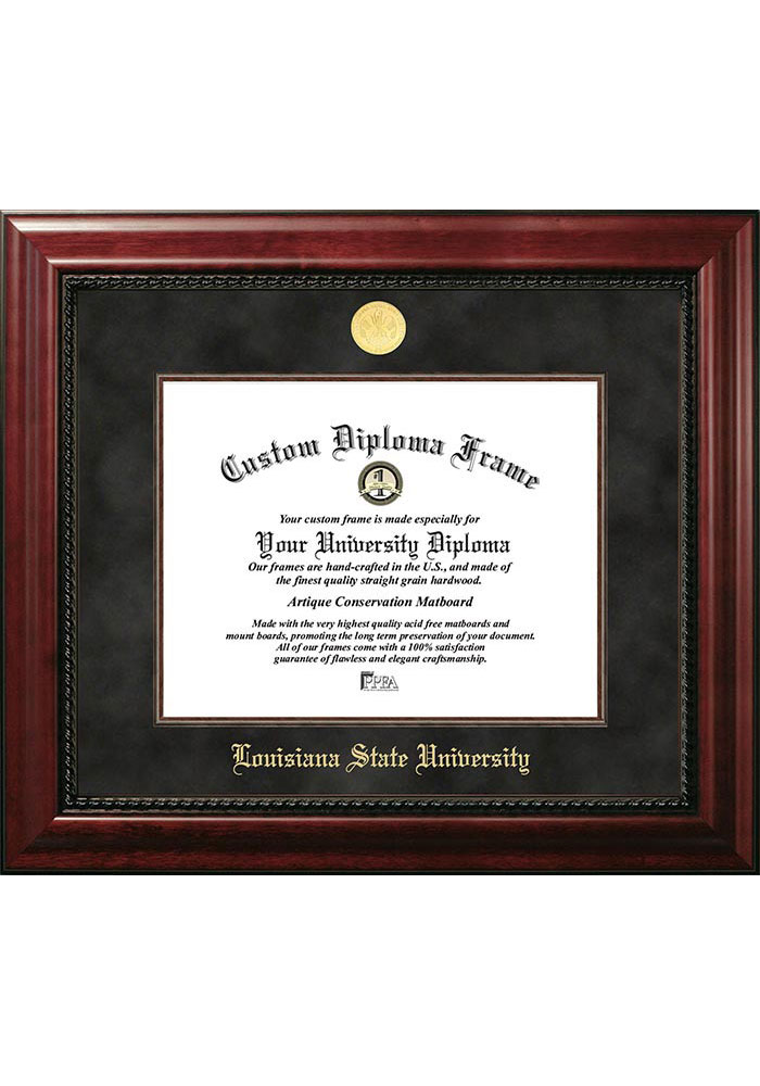 LSU Tigers Executive Diploma Picture Frame - Image 1