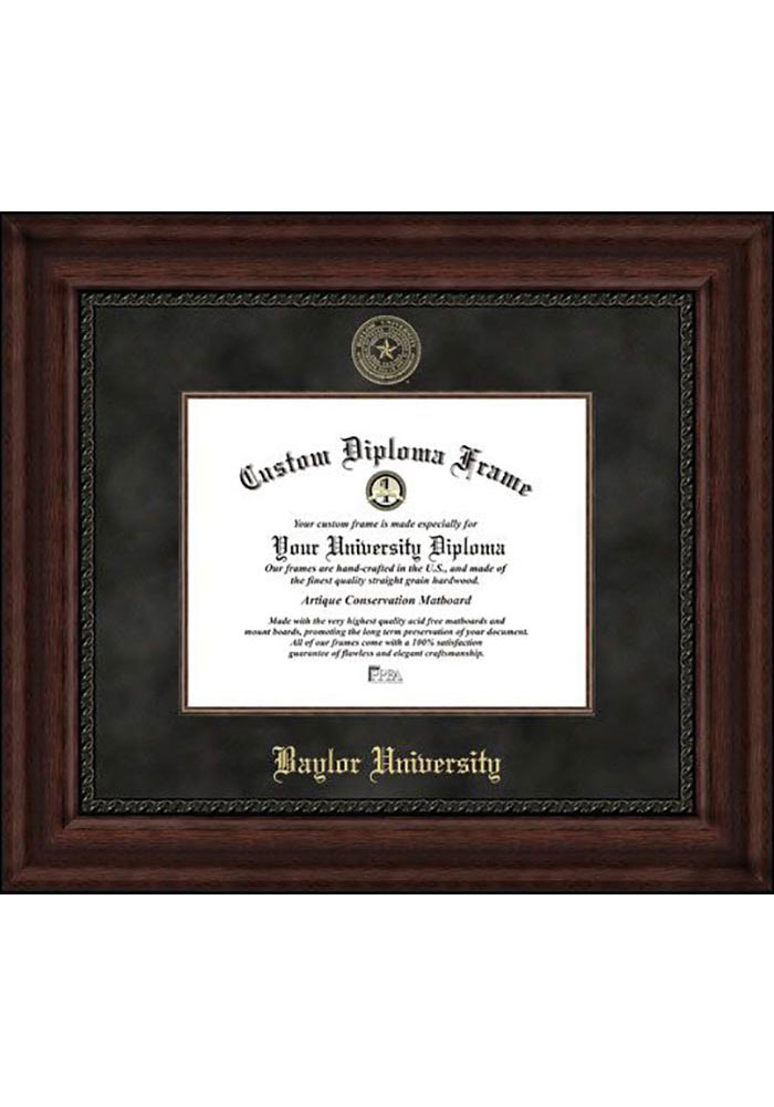 Campus Images Baylor University 14w x 11h Gold Embossed Diploma Frame with 5 x7 Portrait