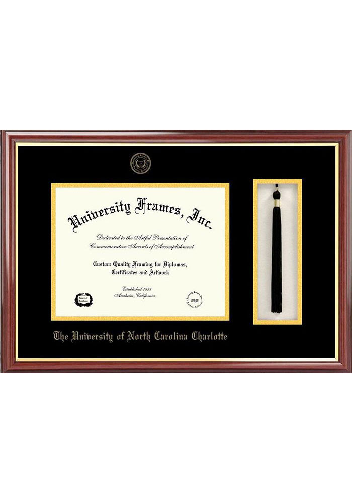 UNCC 49ers Tassel Box Diploma Picture Frame - Image 1