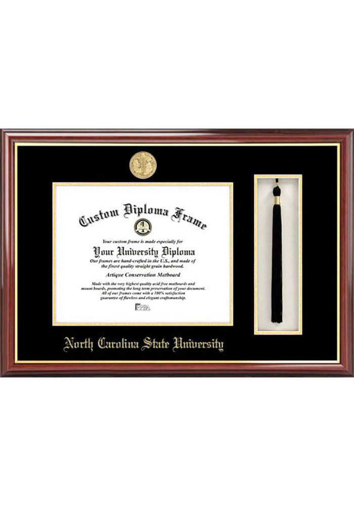 NC State Wolfpack Tassel Box Diploma Picture Frame - Image 1