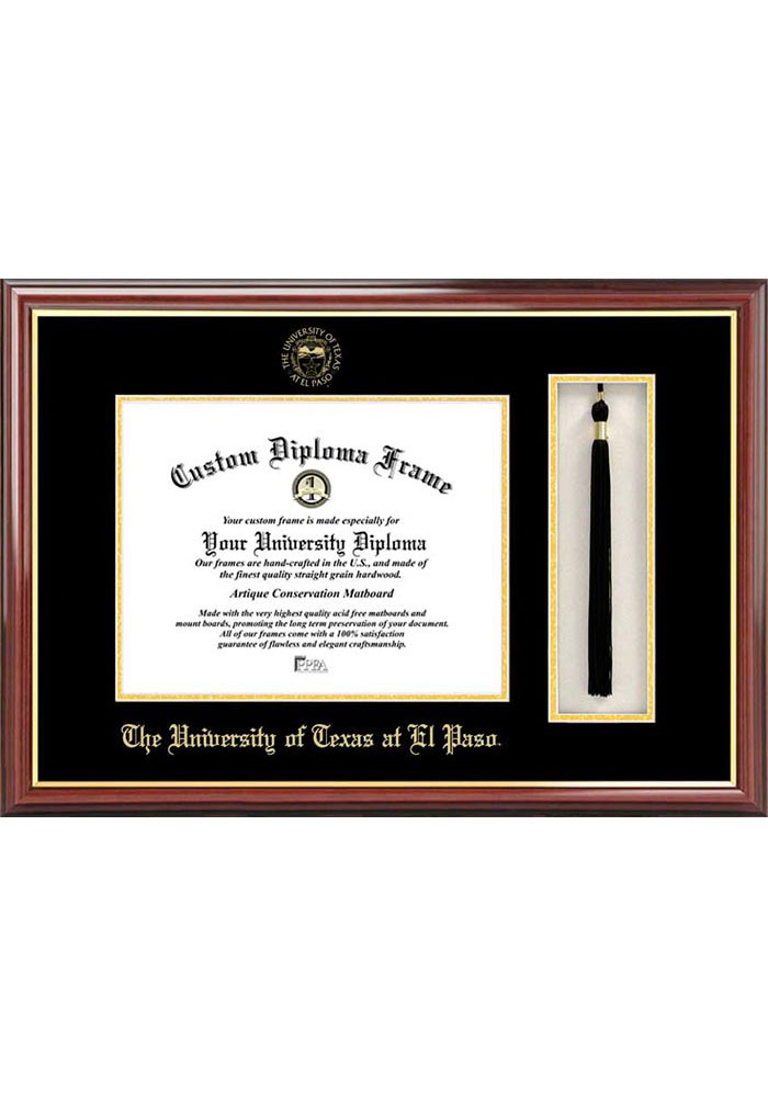 UTEP Miners Tassel Box Diploma Picture Frame - Image 1