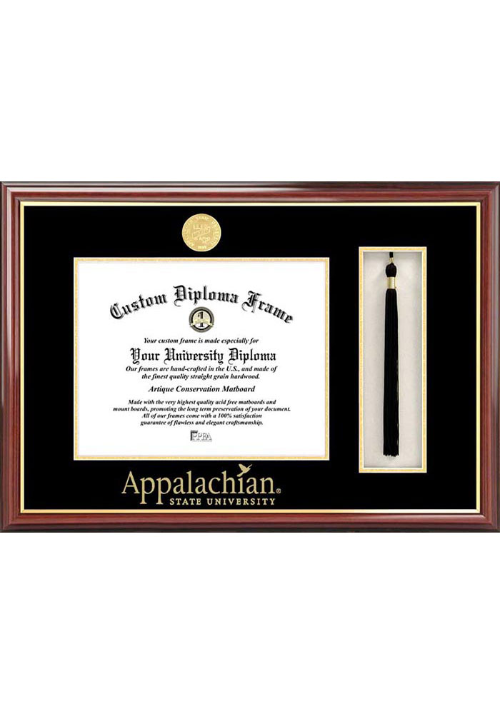 Appalachian State Mountaineers Tassel Box Diploma Picture Frame - Image 1