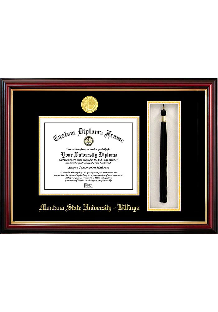 Montana State Bobcats Tassel Box Diploma Picture Frame - Image 1