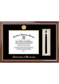 Wisconsin Badgers Tassel Box Diploma Picture Frame
