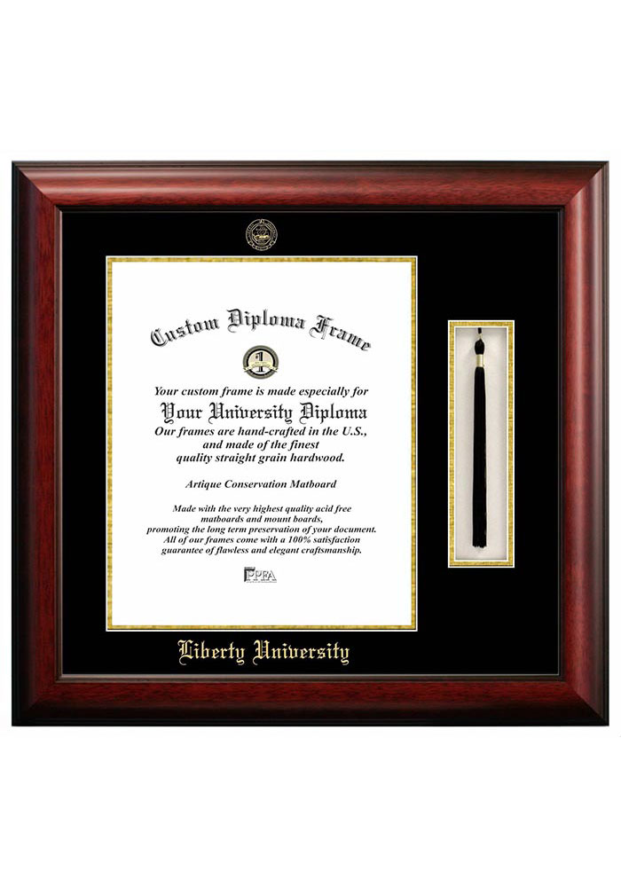 Liberty Flames Tassel Box Diploma Picture Frame 7490849