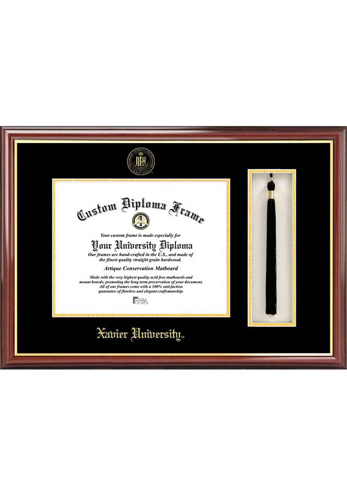 Xavier Musketeers Tassel Box Diploma Picture Frame - Image 1