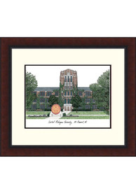 Central Michigan Chippewas Legacy Campus Lithograph Wall Art