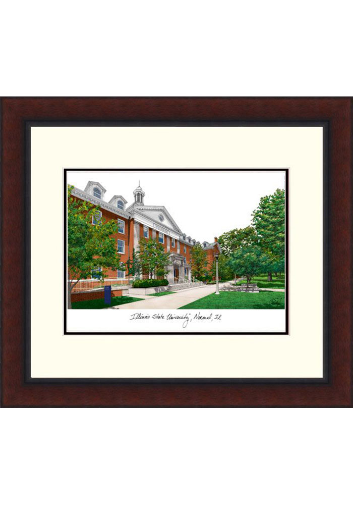 Illinois State Redbirds Legacy Campus Lithograph Wall Art - Image 1