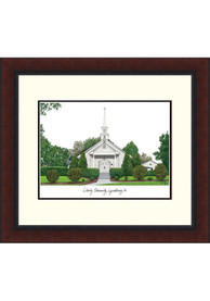 Liberty Flames Legacy Campus Lithograph Wall Art