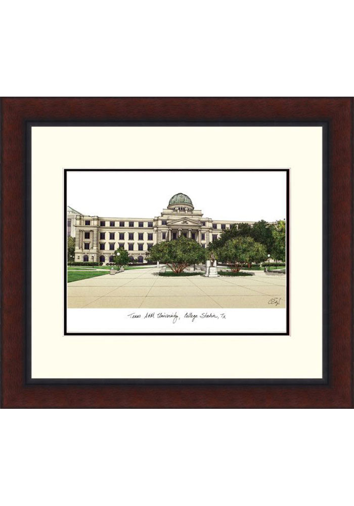 Texas A&M Aggies Legacy Campus Lithograph Wall Art - Image 1