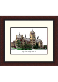 Wayne State Warriors Legacy Campus Lithograph Wall Art