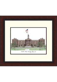 Western Illinois Leathernecks Legacy Campus Lithograph Wall Art