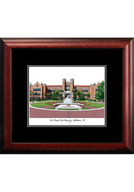Florida State Seminoles Black Matted Campus Lithograph Wall Art