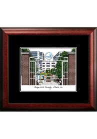 Georgia State Panthers Black Matted Campus Lithograph Wall Art