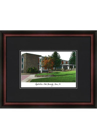 Appalachian State Mountaineers Black Matted Campus Lithograph Wall Art