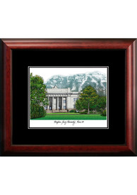 BYU Cougars Black Matted Campus Lithograph Wall Art