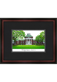 Delaware Fightin' Blue Hens Black Matted Campus Lithograph Wall Art