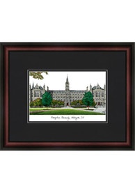 Georgetown Hoyas Black Matted Campus Lithograph Wall Art