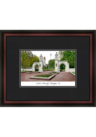 Indiana Hoosiers Black Matted Campus Lithograph Wall Art