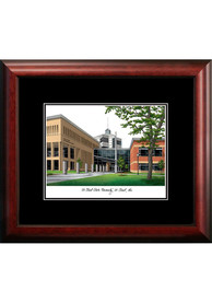 St Cloud State Huskies Black Matted Campus Lithograph Wall Art
