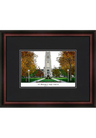 Toledo Rockets Black Matted Campus Lithograph Wall Art