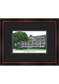 Tulane Green Wave Black Matted Campus Lithograph Wall Art