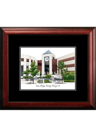 Western Michigan Broncos Black Matted Campus Lithograph Wall Art