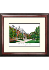 Illinois State Redbirds Campus Lithograph Wall Art