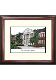 Nicholls State Colonels Campus Lithograph Wall Art