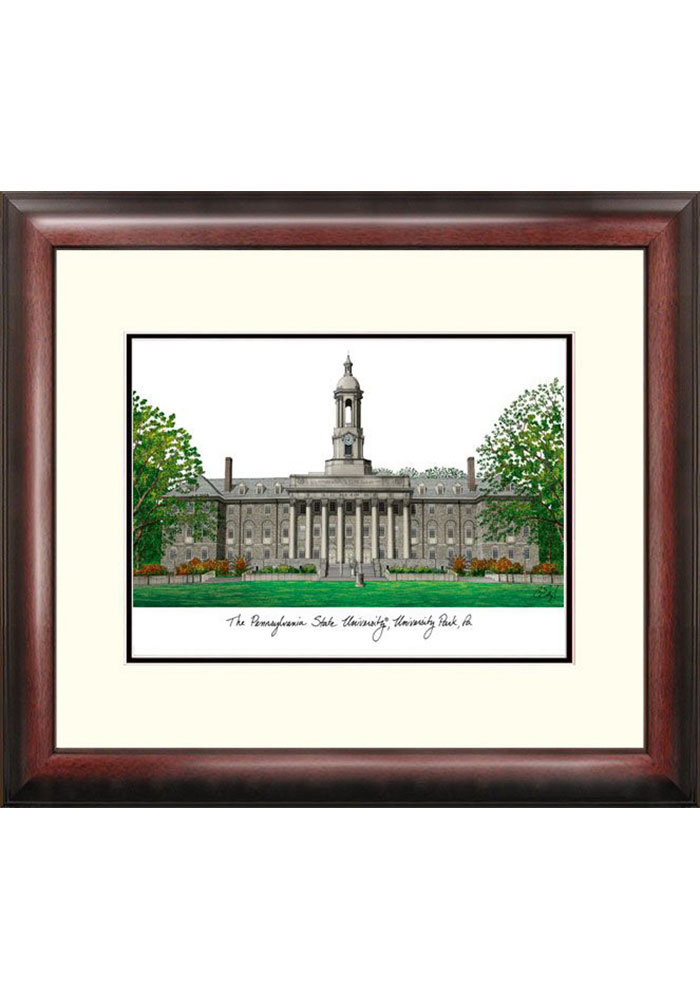 Penn State Nittany Lions Campus Lithograph Wall Art - Image 1
