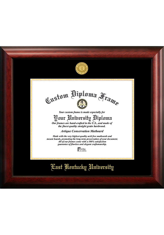 Eastern Kentucky Colonels Gold Embossed Diploma Frame Picture Frame - Image 1