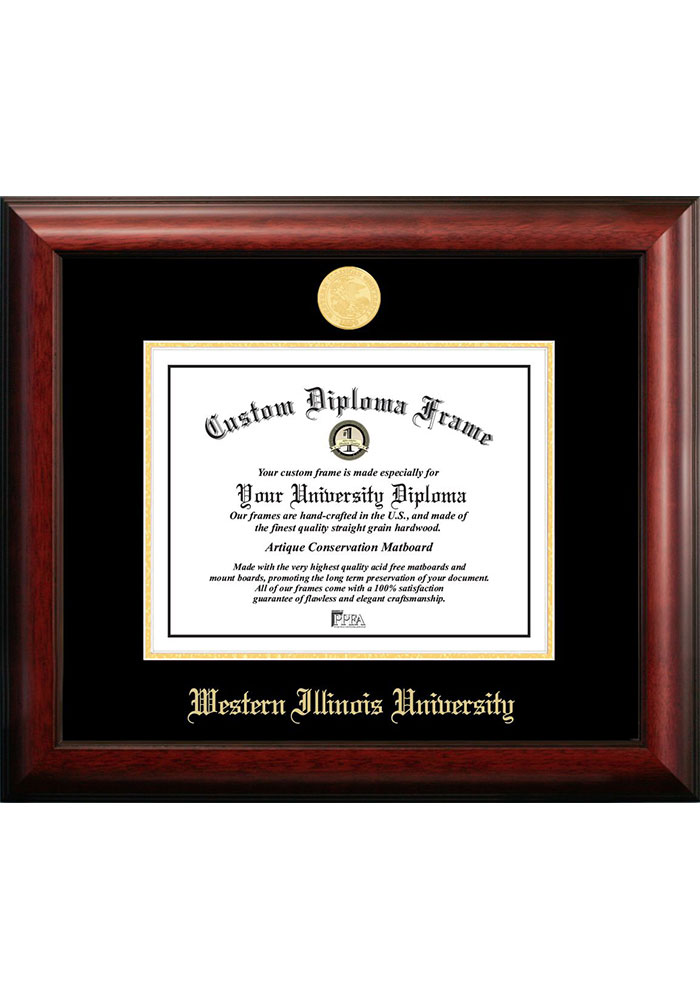 Western Illinois Leathernecks Gold Embossed Diploma Frame Picture Frame - Image 1