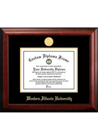 Western Illinois Leathernecks Gold Embossed Diploma Frame Picture Frame