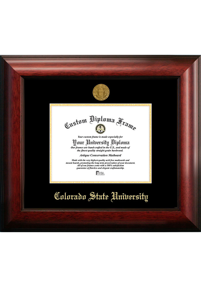 Colorado State Rams Gold Embossed Diploma Frame Picture Frame - Image 1