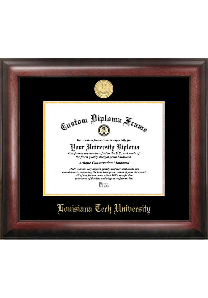 Louisiana Tech Bulldogs Gold Embossed Diploma Frame Picture Frame - Image 1